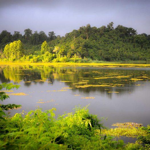 Morgendliche Idylle am Nam Thien Lake.